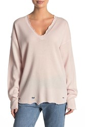 Current Elliott The Destroyed Wool And Cashmere Blend Sweater Mayfair