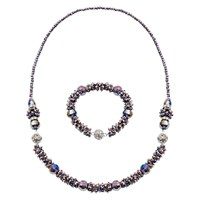Martick Murano Glass Multi Way Necklace Amethyst