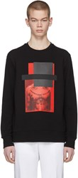 Neil Barrett Black And Red Do Wrong To None Trust A Few Sweatshirt