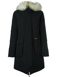 Woolrich Fur Trim Padded Parka Black