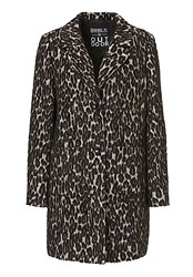 Betty Barclay Animal Print Coat Cream