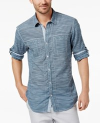 Inc International Concepts Men's Chambray Shirt Created For Macy's Mountain Fog