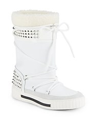 Alessandro Dell'acqua All Weather Faux Fur Boots White