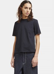 Marni Open Back Ribbon Tied T Shirt Navy