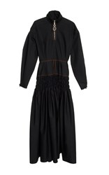 Ellery Tennessee Ruched Bubble Sleeve Dress Black