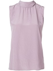 Luisa Cerano Roll Neck Tank Top Pink And Purple