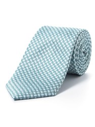 Paul Costelloe Green Diamond Geometric Tie