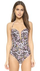 Beach Riot Stone Cold Fox The Coqui One Piece Swimsuit Floral