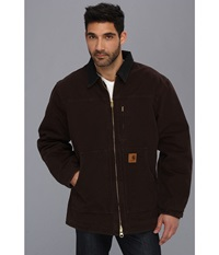 Carhartt Sandstone Ridge Coat Tall Dark Brown Men's Jacket