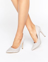 New Look Suedette Court Shoe Grey