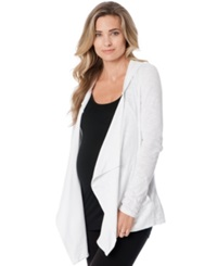 A Pea In The Pod Maternity Hooded Draped Cardigan White