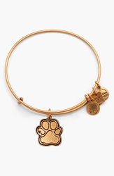 Alex And Ani 'Prints Of Love' Expandable Wire Bangle Gold