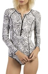 Volcom Women's Leaf Me Alone Long Sleeve One Piece Swimsuit