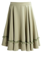 Mintandberry Aline Skirt Oil Green Khaki