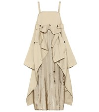 Maison Martin Margiela Cotton Trench Coat Dress Beige