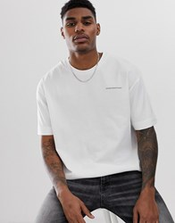 Good For Nothing Oversized T Shirt In White With Chest Logo
