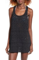 Roxy Women's Sporty Crochet Cover Up True Black