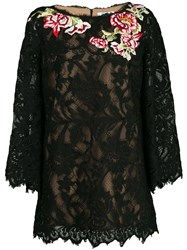 Marchesa Floral Lace Embroidered Blouse 60