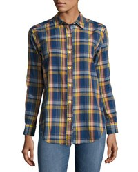 Mih Jeans Long Sleeve Button Front Shirt Multi