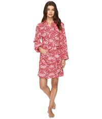 Lucky Brand Shawl Collar Plush Robe Wallpaper Floral Women's Robe Multi