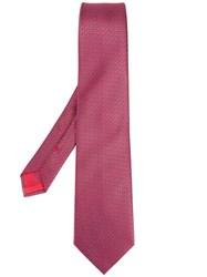 Brioni Linear Shape Tie Red