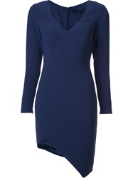 Jay Godfrey Asymmetric Hem Dress Blue