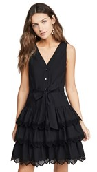 Rebecca Taylor La Vie Sleeveless Shell Embroidered Dress Black