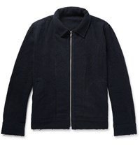 The Elder Statesman Statesan Devon Cashere Jacket Navy