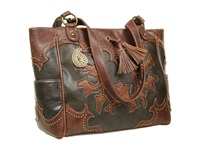 American West Nashville Tote Hunter Brown Tote Handbags