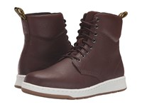 Dr. Martens Rigal 8 Eye Boot Tan Carpathian Mesh Lace Up Boots Brown