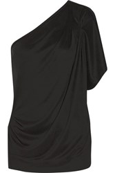 By Malene Birger Asolla One Shoulder Modal Blend Jersey Top Black