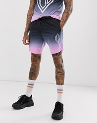 Religion Co Ord Shorts In Fade Navy And Pink
