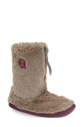 Women's Bedroom Athletics 'Monroe' Slipper Boot Moonrock Plum Faux Fur