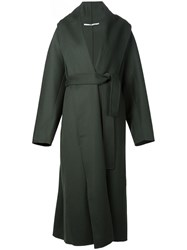 Rosetta Getty Wrap Long Coat Green