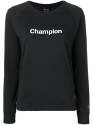 Champion Fitted Logo T Shirt Black