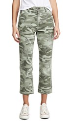 Amo Easy Trouser Relaxed Crop Straight Jeans Surplus Camo