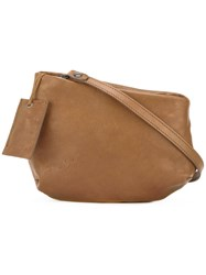 Marsell Zip Up Cross Body Bag Brown