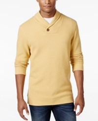 Tasso Elba Men's Big And Tall Honeycomb Textured Shawl Collar Sweater Only At Macy's Honey Heather