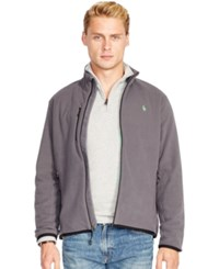 Polo Ralph Lauren Microfleece Track Jacket English Grey