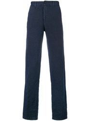 Massimo Alba Straight Leg Winch Trousers Blue