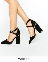 Asos Paxton Wide Fit Pointed Heels Black