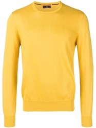 Fay Crewneck Knitted Jumper Yellow
