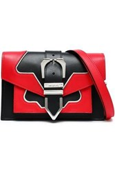 Versus By Versace Two Tone Leather Shoulder Bag Red