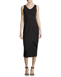 Neon Buddha Eventide Tiered Sleeveless Dress Market Black