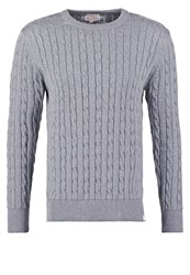 Knowledge Cotton Apparel Jumper Grey Marl Mottled Grey