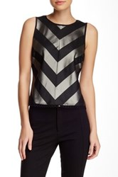 Weston Wear Madison Chevron Sleeveless Blouse Multi