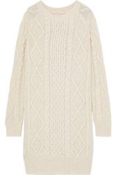 Vanessa Bruno Woman Justina Cable Knit Alpaca Blend Dress Ecru