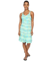 Exofficio Wanderlux Tank Dress Deep Sea Print Women's Dress Blue