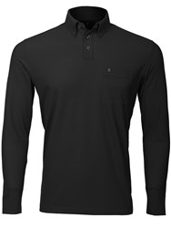 Oscar Jacobson Jasper Long Sleeved Polo Black
