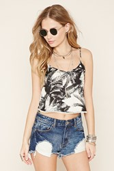 Forever 21 Palm Tree Print Cropped Cami